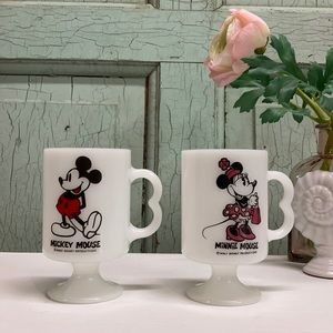 Vintage Mickey & Minnie Mugs